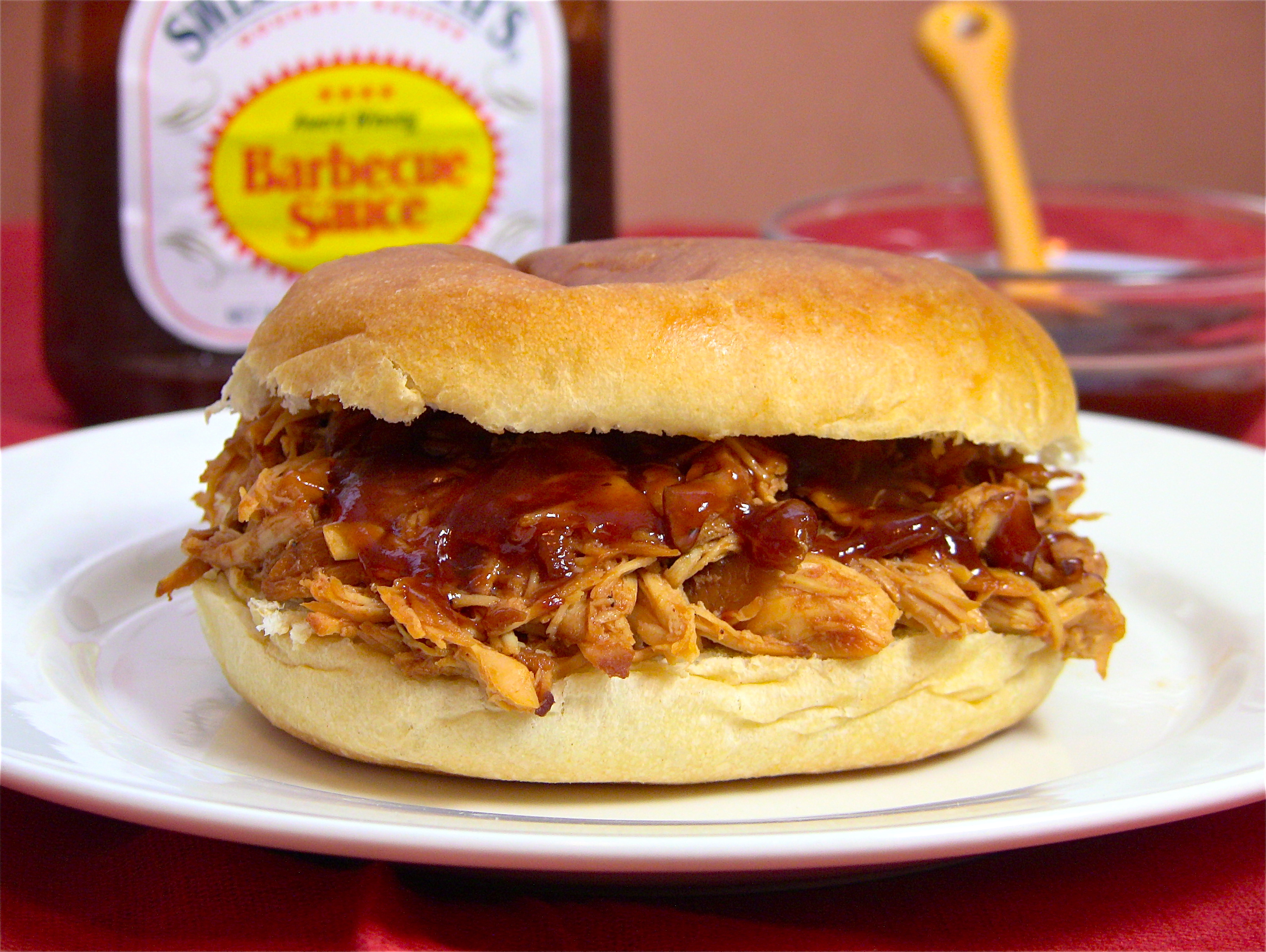 Crockpot BBQ Shredded Chicken