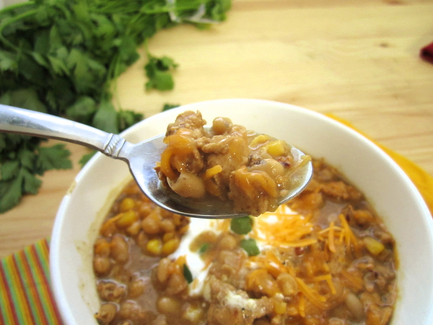 White Bean and Chicken Chili - Eat. Drink. Love.